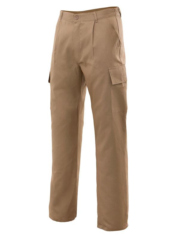 Pantalón laboral multibolsillos beige 80-20 serie 31601