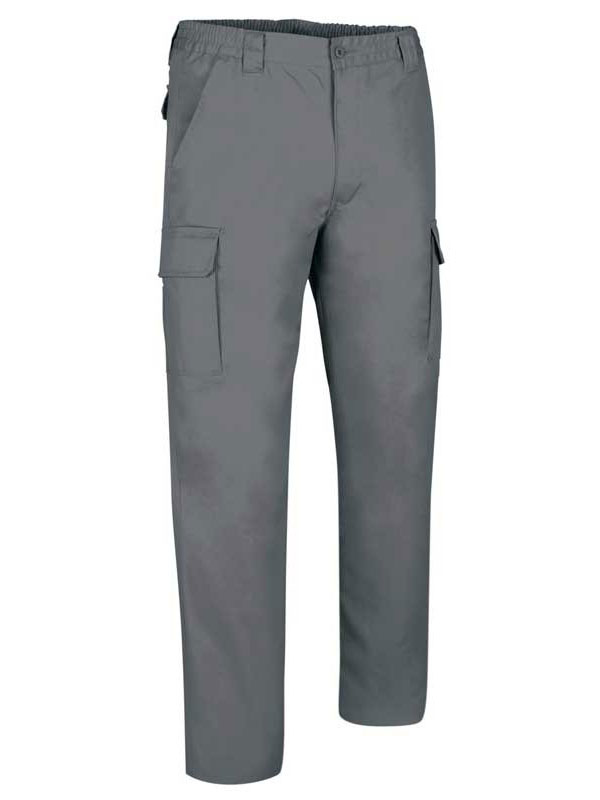 PANTALÓN LABORAL GRIS MULTIBOLSILLOS 65-35 MOD. TOP ROBLE
