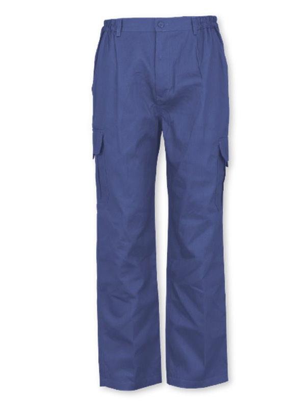 Pantalón laboral azul marino reforzado 65-35 mod. montador
