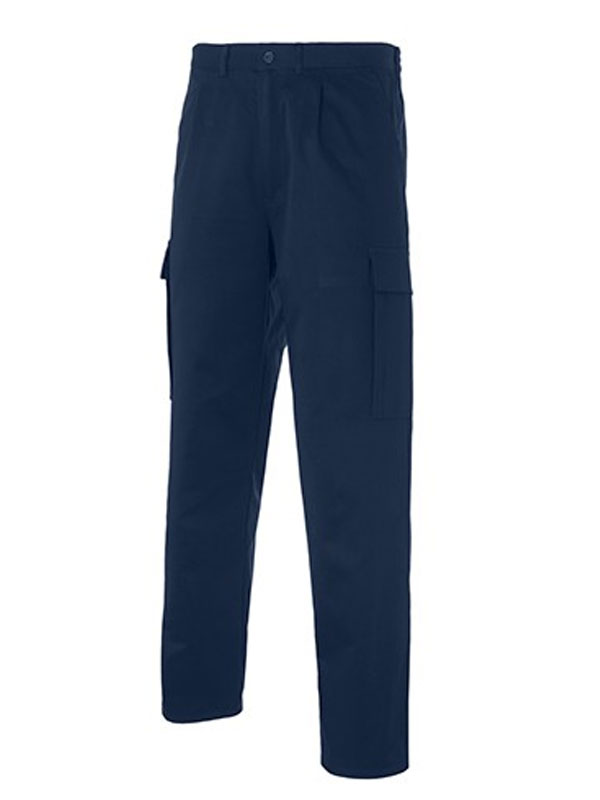 Pantalon mult-bolsillos azul marino 65% pol. - 35% alg. s