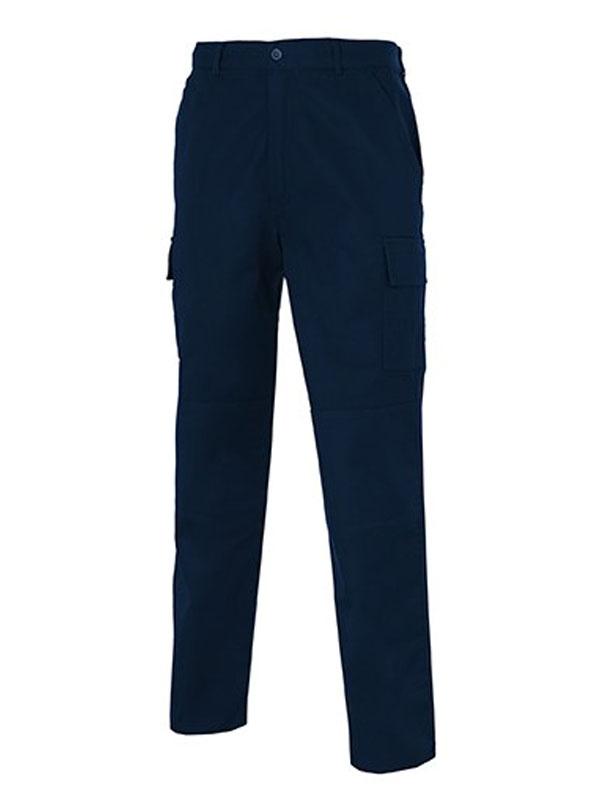 Pantalón de trabajo azul marino reforzado multi-bolsillos 100% alg. mod. s
