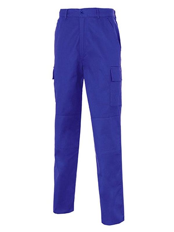 Pantalón de trabajo azulina reforzado multi-bolsillos 100% alg. mod. s